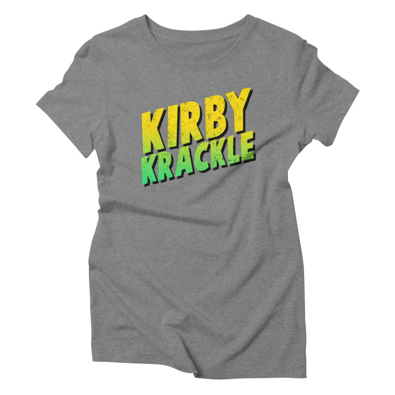 Kirby Krackle - Block Logo Women's Triblend T-Shirt by Kirby Krackle's Artist Shop