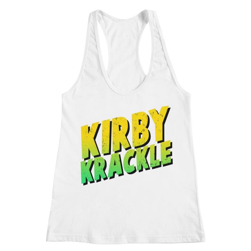 Kirby Krackle - Block Logo Women's Racerback Tank by Kirby Krackle's Artist Shop