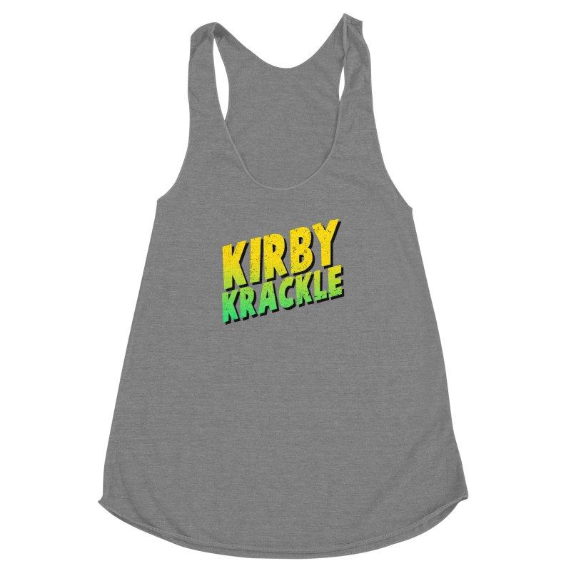 Kirby Krackle - Block Logo Women's Racerback Triblend Tank by Kirby Krackle's Artist Shop