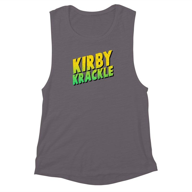 Kirby Krackle - Block Logo Women's Muscle Tank by Kirby Krackle's Artist Shop