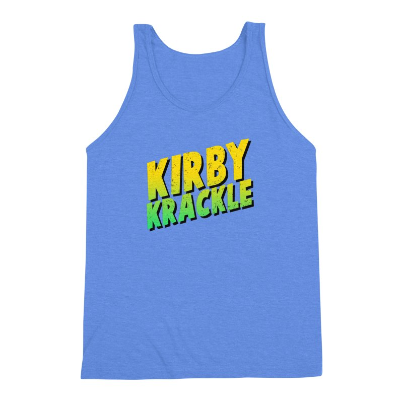 Kirby Krackle - Block Logo Men's Triblend Tank by Kirby Krackle's Artist Shop