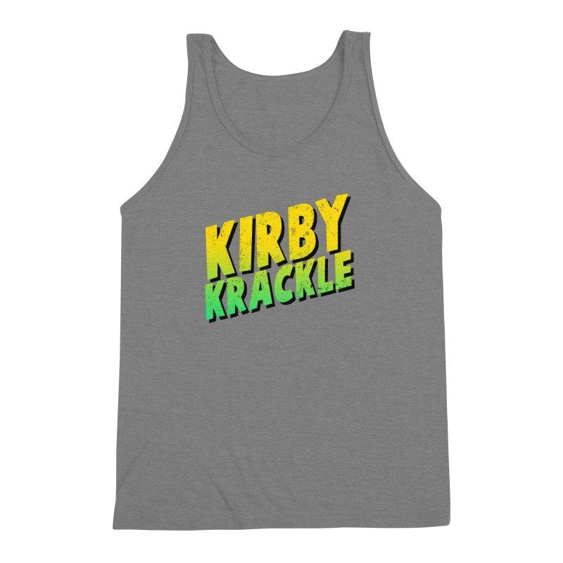 Kirby Krackle - Block Logo Men's Triblend Tank by Kirby Krackle's Artist Shop