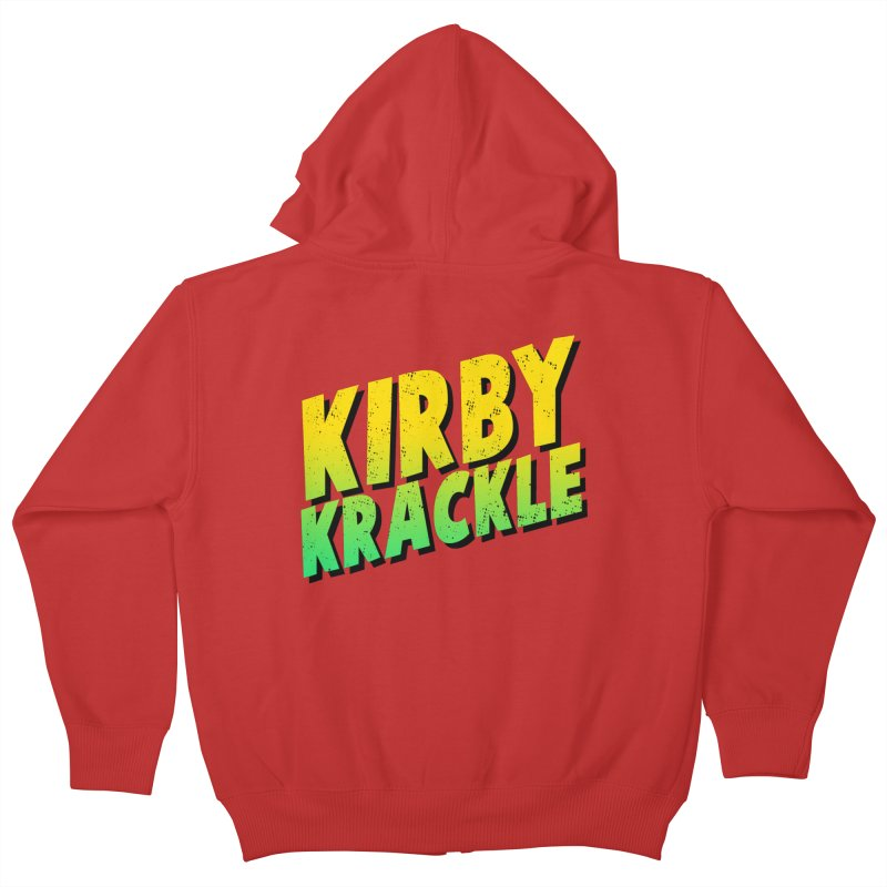 Kirby Krackle - Block Logo Kids Zip-Up Hoody by Kirby Krackle's Artist Shop