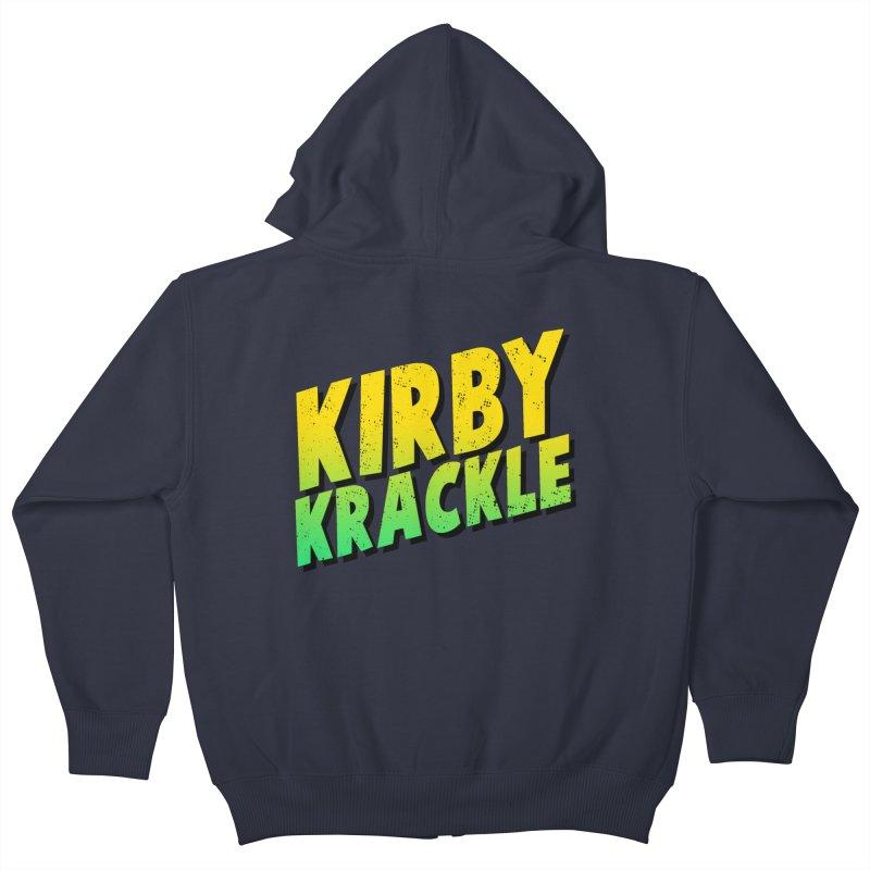 Kirby Krackle - Block Logo Kids Zip-Up Hoody by Kirby Krackle's Artist Shop