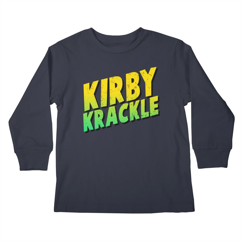 Kirby Krackle - Block Logo Kids Longsleeve T-Shirt by Kirby Krackle's Artist Shop