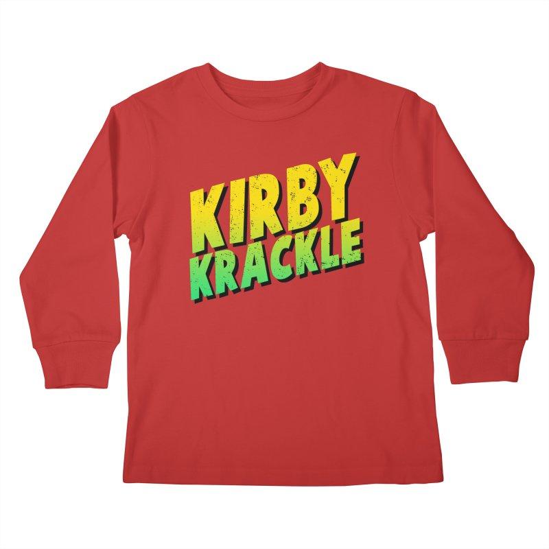 Kirby Krackle - Block Logo Kids Longsleeve T-Shirt by Kirby Krackle's Artist Shop