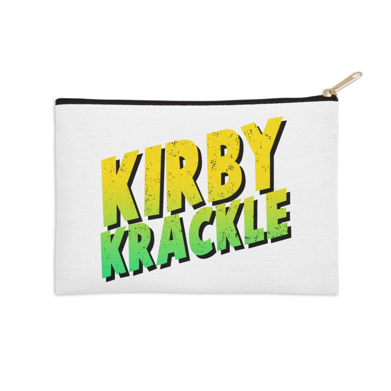 Kirby Krackle - Block Logo Accessories Zip Pouch by Kirby Krackle's Artist Shop