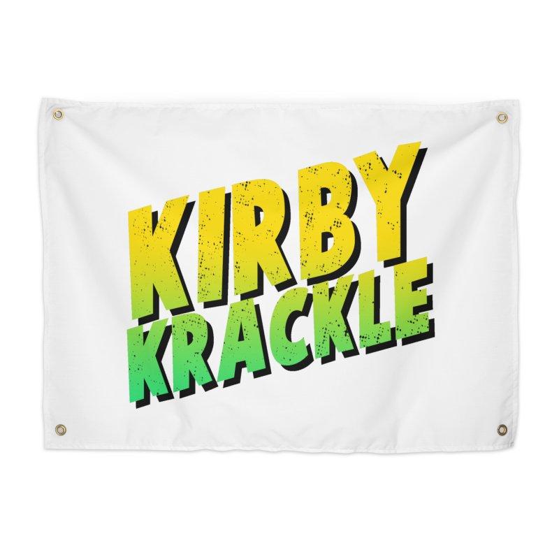 Kirby Krackle - Block Logo Home Tapestry by Kirby Krackle's Artist Shop