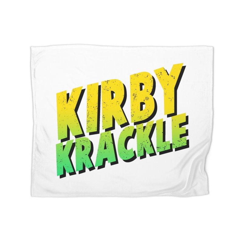 Kirby Krackle - Block Logo Home Blanket by Kirby Krackle's Artist Shop