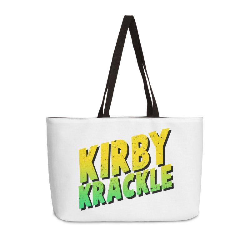 Kirby Krackle - Block Logo Accessories Weekender Bag Bag by Kirby Krackle's Artist Shop