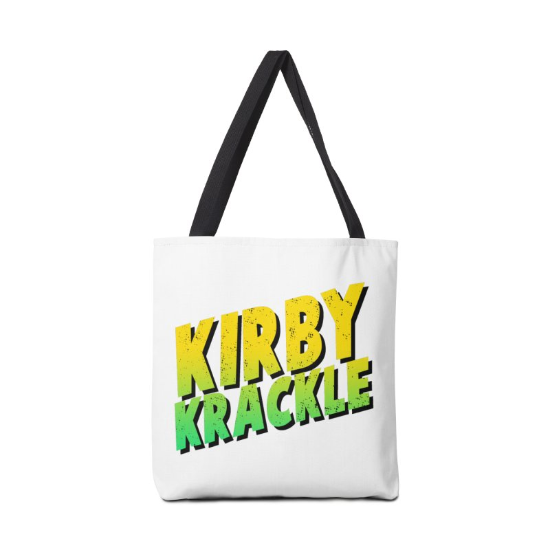 Kirby Krackle - Block Logo Accessories Bag by Kirby Krackle's Artist Shop