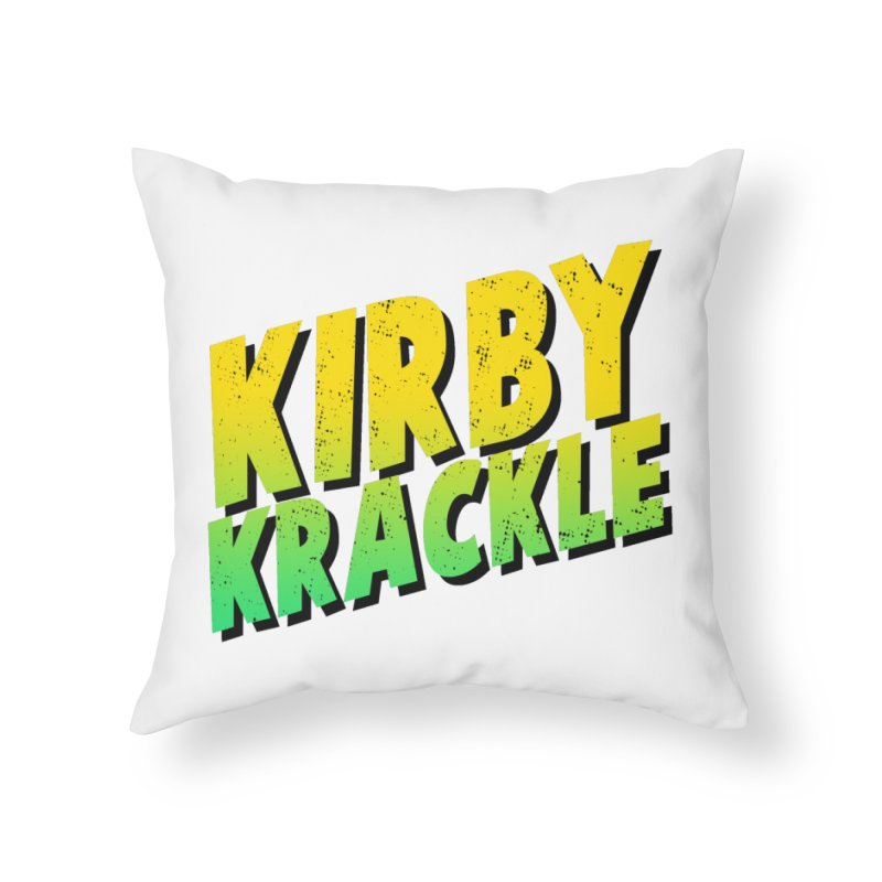 Kirby Krackle - Block Logo Home Throw Pillow by Kirby Krackle's Artist Shop