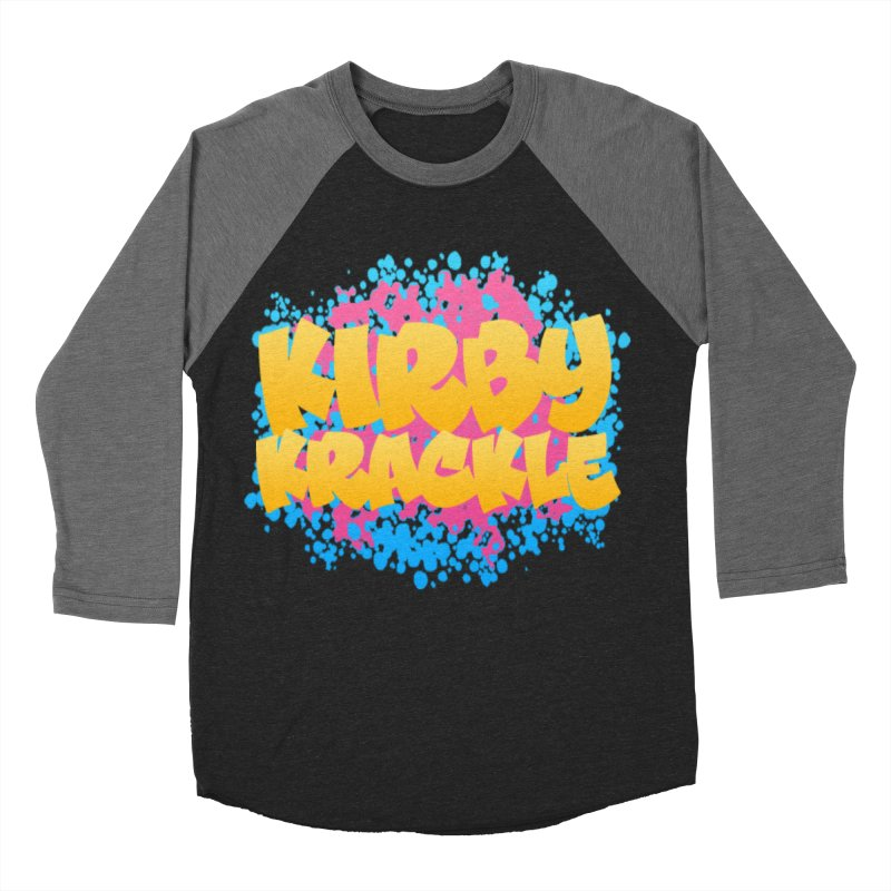 Kirby Krackle - Harajuku Logo Men's Baseball Triblend Longsleeve T-Shirt by Kirby Krackle's Artist Shop