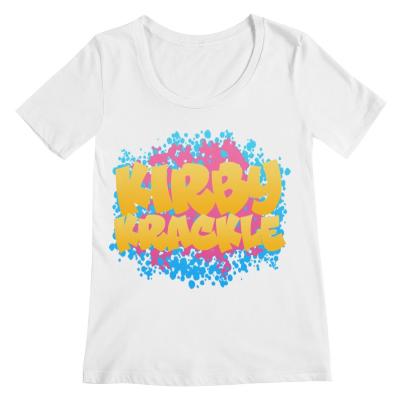 Kirby Krackle - Harajuku Logo Women's Scoopneck by Kirby Krackle's Artist Shop