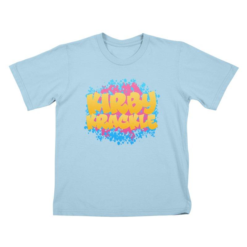Kirby Krackle - Harajuku Logo Kids T-Shirt by Kirby Krackle's Artist Shop