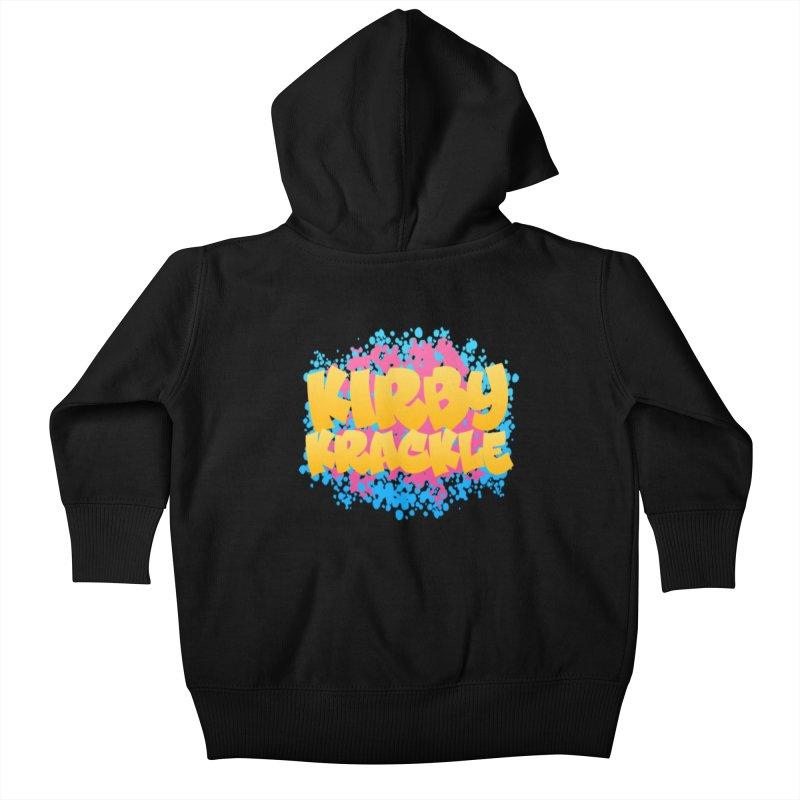 Kirby Krackle - Harajuku Logo Kids Baby Zip-Up Hoody by Kirby Krackle's Artist Shop