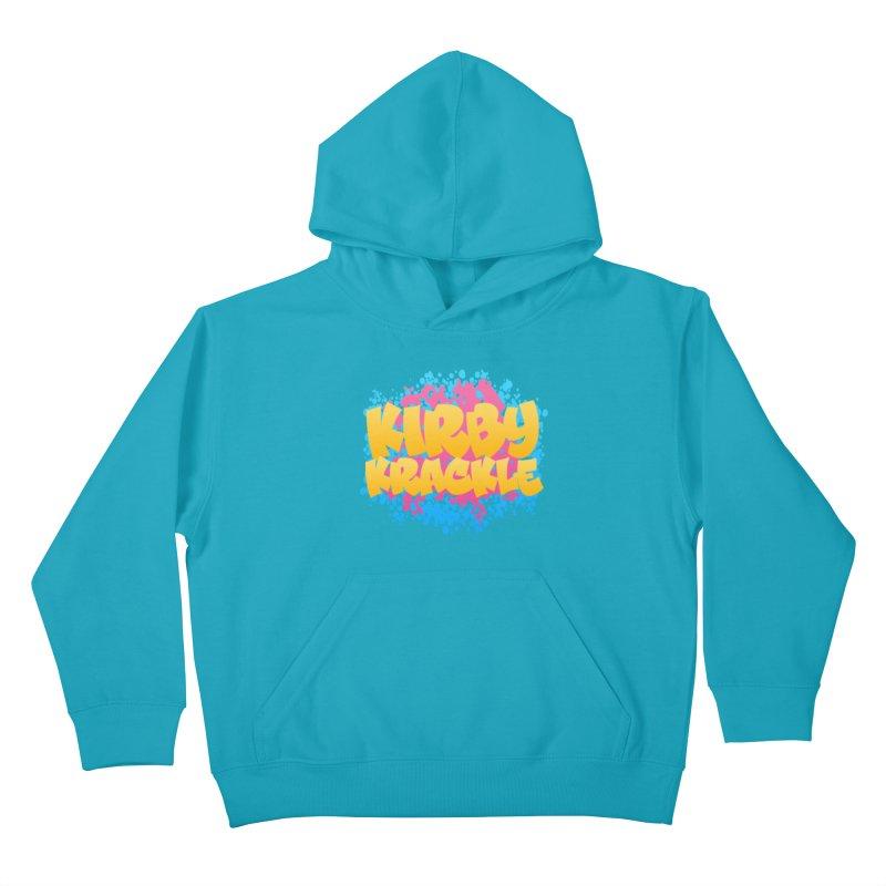 Kirby Krackle - Harajuku Logo Kids Pullover Hoody by Kirby Krackle's Artist Shop