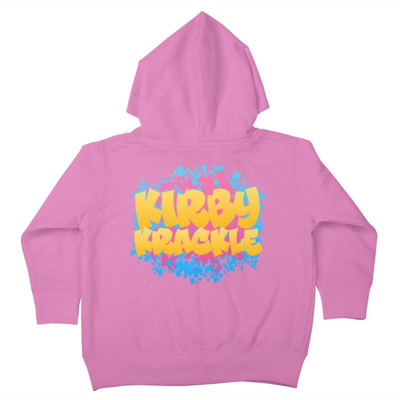 Kirby Krackle - Harajuku Logo Kids Toddler Zip-Up Hoody by Kirby Krackle's Artist Shop