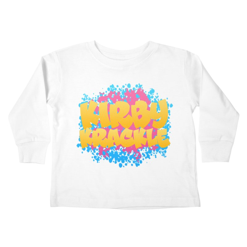 Kirby Krackle - Harajuku Logo Kids Toddler Longsleeve T-Shirt by Kirby Krackle's Artist Shop
