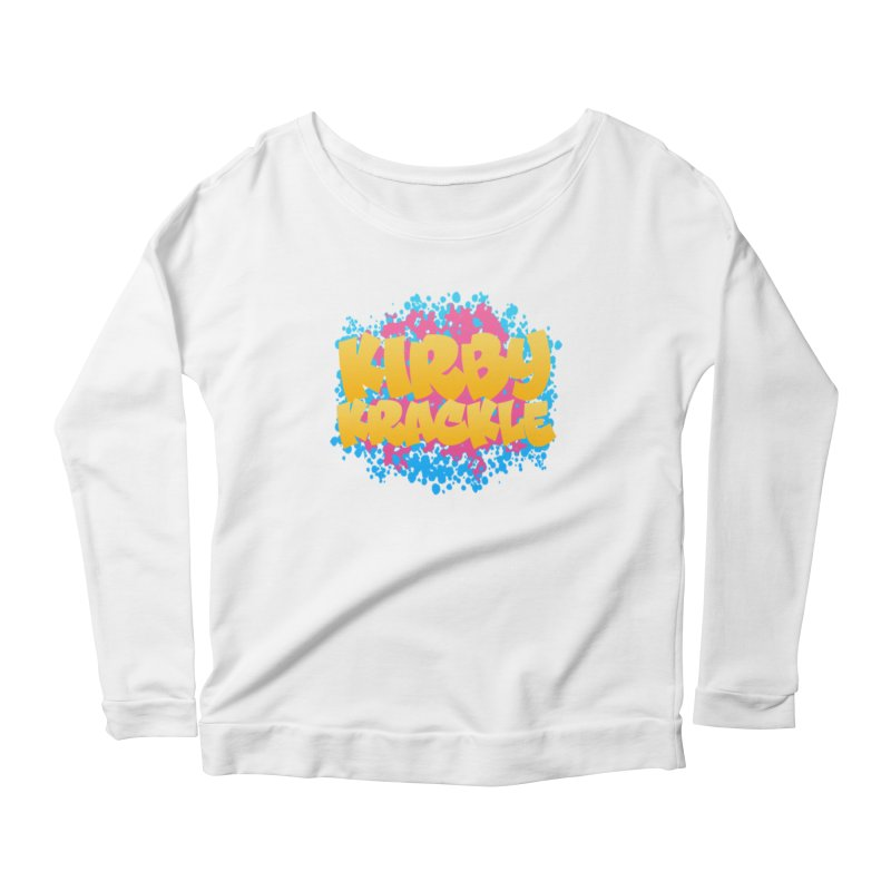 Kirby Krackle - Harajuku Logo Women's Scoop Neck Longsleeve T-Shirt by Kirby Krackle's Artist Shop