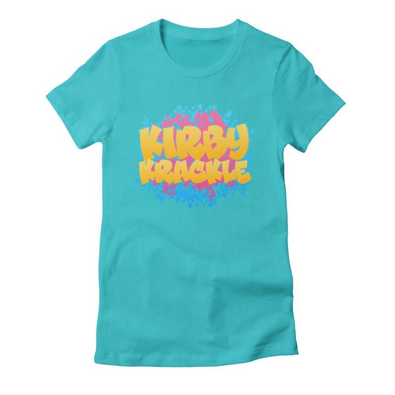 Kirby Krackle - Harajuku Logo Women's Fitted T-Shirt by Kirby Krackle's Artist Shop