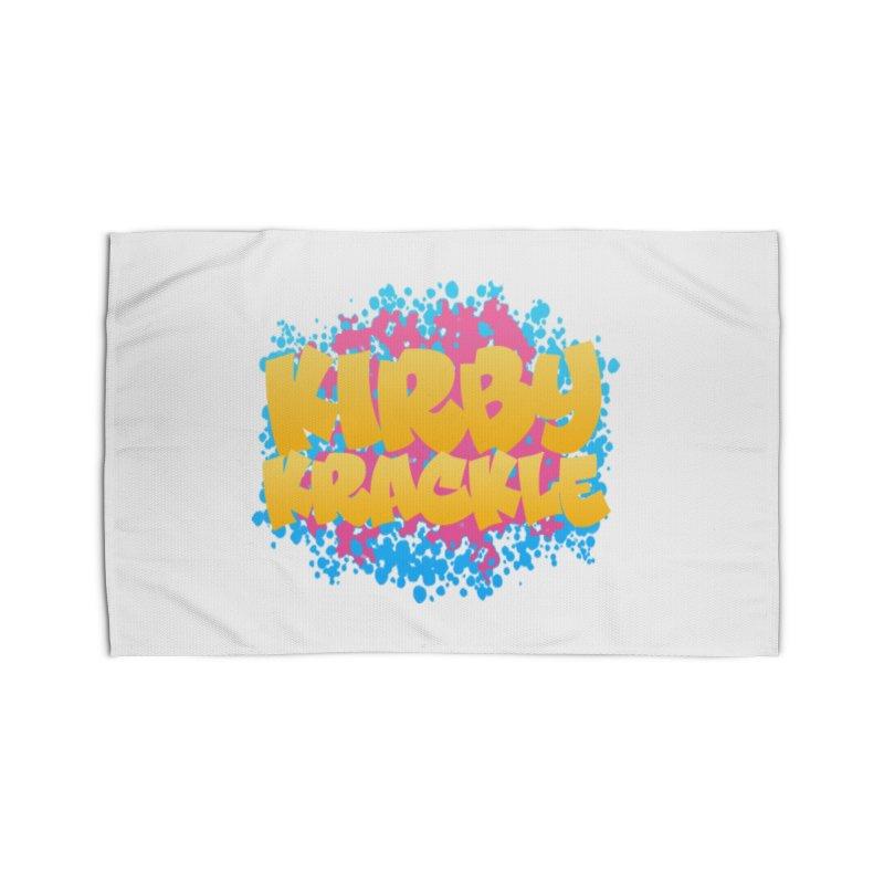 Kirby Krackle - Harajuku Logo Home Rug by Kirby Krackle's Artist Shop