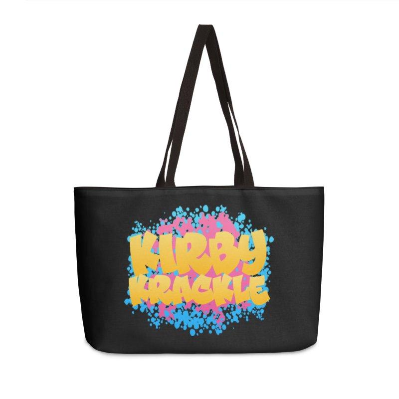 Kirby Krackle - Harajuku Logo Accessories Weekender Bag Bag by Kirby Krackle's Artist Shop