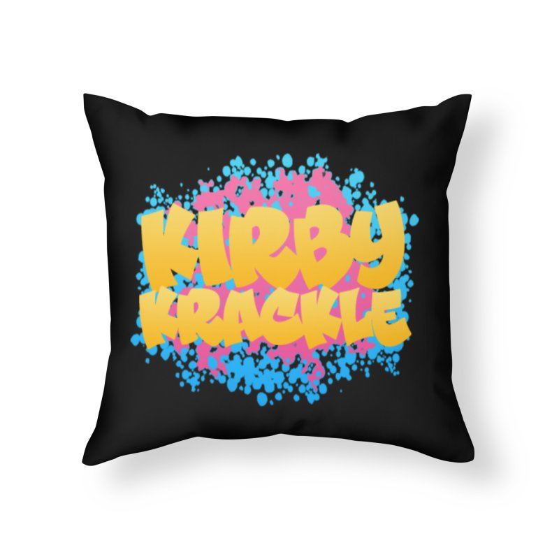 Kirby Krackle - Harajuku Logo Home Throw Pillow by Kirby Krackle's Artist Shop