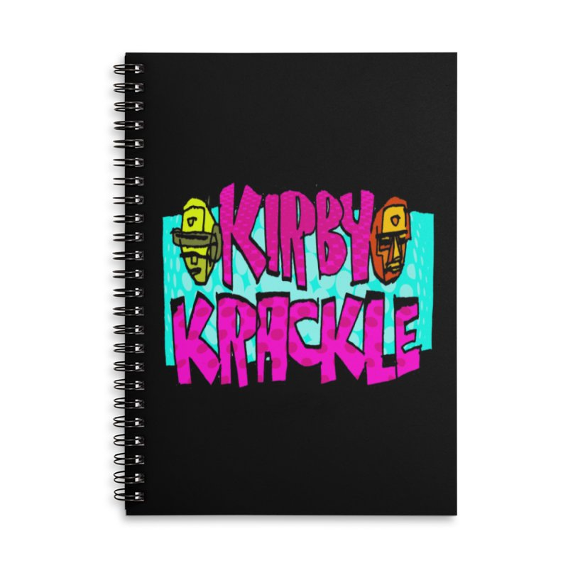 Kirby Krackle - 2017 Logo Accessories Lined Spiral Notebook by Kirby Krackle's Artist Shop