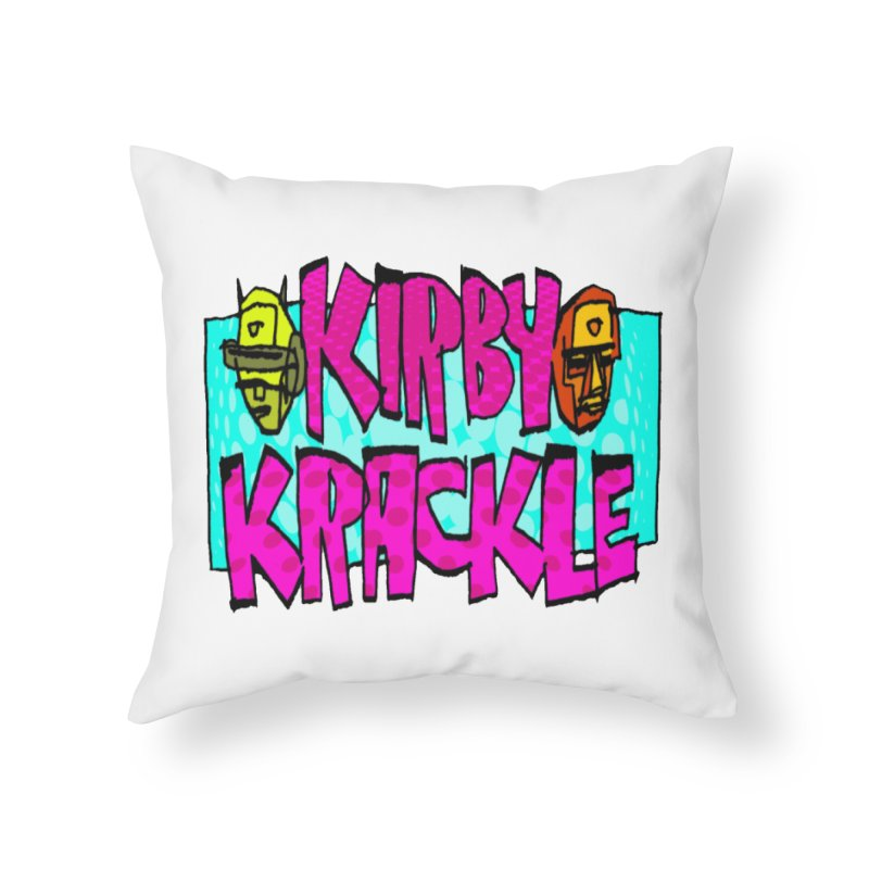 Kirby Krackle - 2017 Logo Home Throw Pillow by Kirby Krackle's Artist Shop