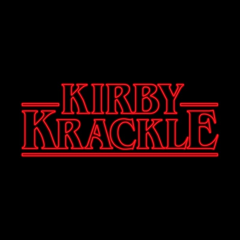Kirby Krackle - Stranger Logo (Neon) Men's T-Shirt by Kirby Krackle's Artist Shop