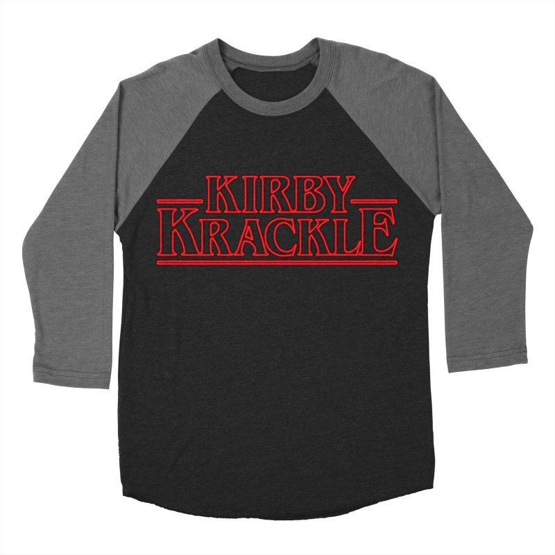Kirby Krackle - Stranger Logo (Neon) Men's Baseball Triblend T-Shirt by Kirby Krackle's Artist Shop