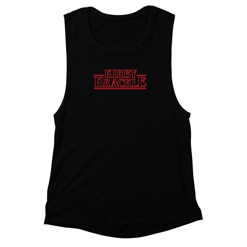 Kirby Krackle - Stranger Logo (Neon) Women's Muscle Tank by Kirby Krackle's Artist Shop