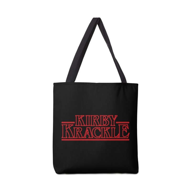 Kirby Krackle - Stranger Logo (Neon) Accessories Bag by Kirby Krackle's Artist Shop