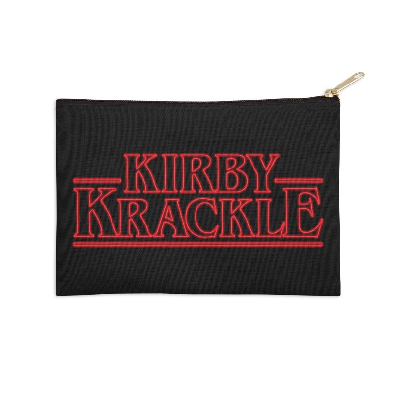 Kirby Krackle - Stranger Logo (Neon) Accessories Zip Pouch by Kirby Krackle's Artist Shop