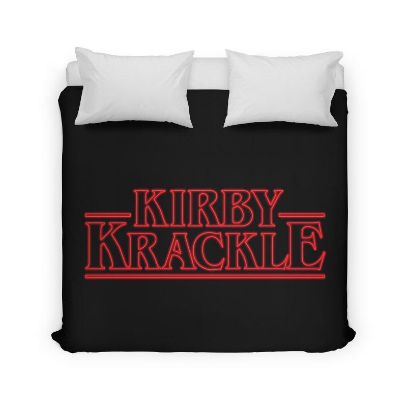 Kirby Krackle - Stranger Logo (Neon) Home Duvet by Kirby Krackle's Artist Shop
