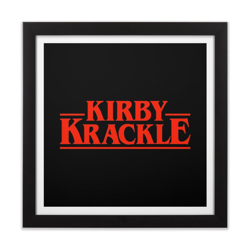 Kirby Krackle - Stranger Logo (Solid) Home Framed Fine Art Print by Kirby Krackle's Artist Shop