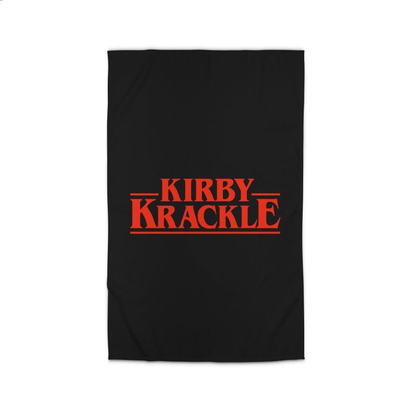 Kirby Krackle - Stranger Logo (Solid) Home Rug by Kirby Krackle's Artist Shop