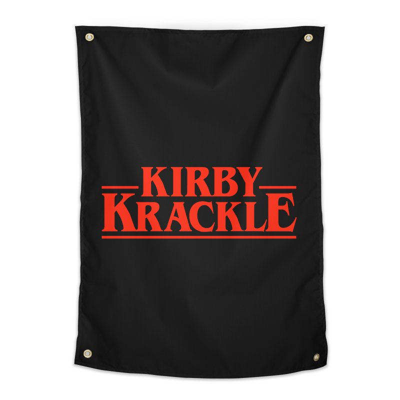 Kirby Krackle - Stranger Logo (Solid) Home Tapestry by Kirby Krackle's Artist Shop