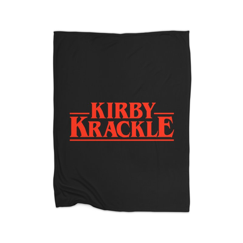 Kirby Krackle - Stranger Logo (Solid) Home Fleece Blanket Blanket by Kirby Krackle's Artist Shop