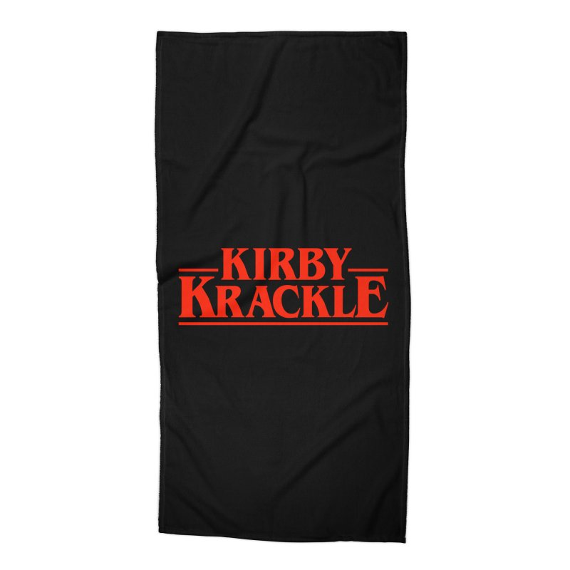 Kirby Krackle - Stranger Logo (Solid) Accessories Beach Towel by Kirby Krackle's Artist Shop