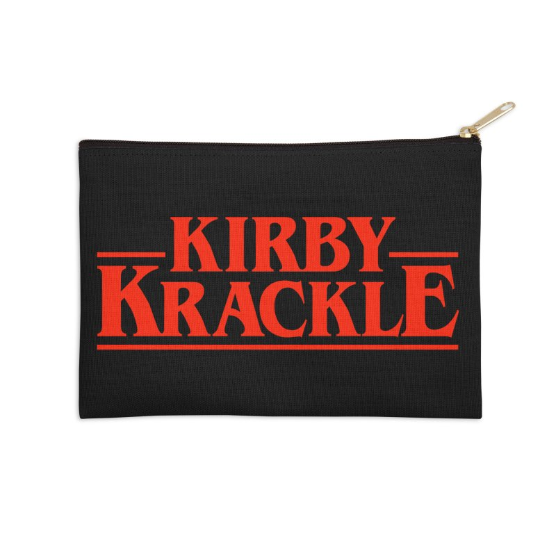 Kirby Krackle - Stranger Logo (Solid) Accessories Zip Pouch by Kirby Krackle's Artist Shop