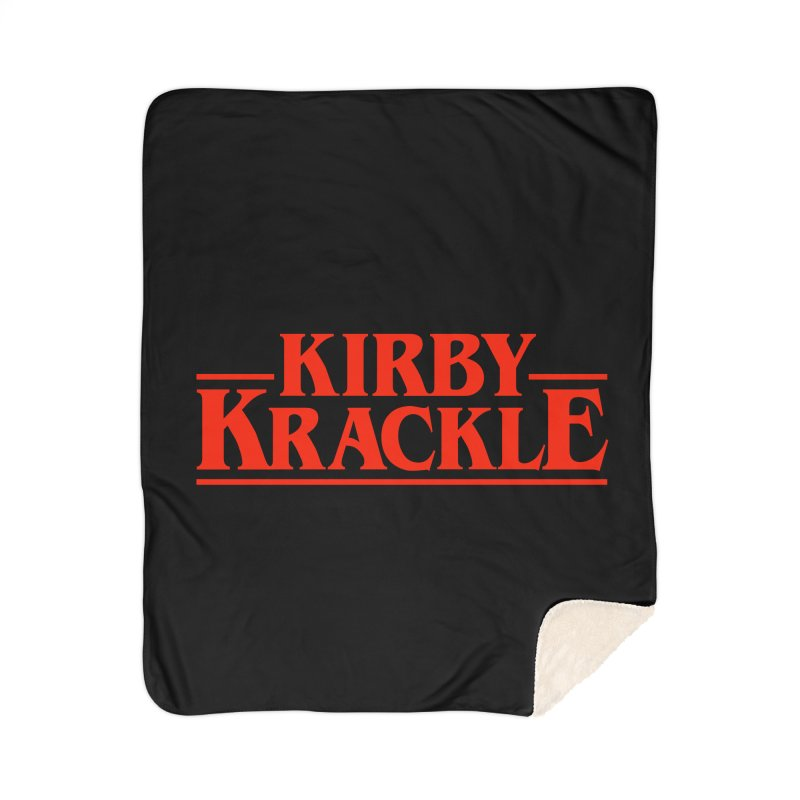 Kirby Krackle - Stranger Logo (Solid) Home Sherpa Blanket Blanket by Kirby Krackle's Artist Shop
