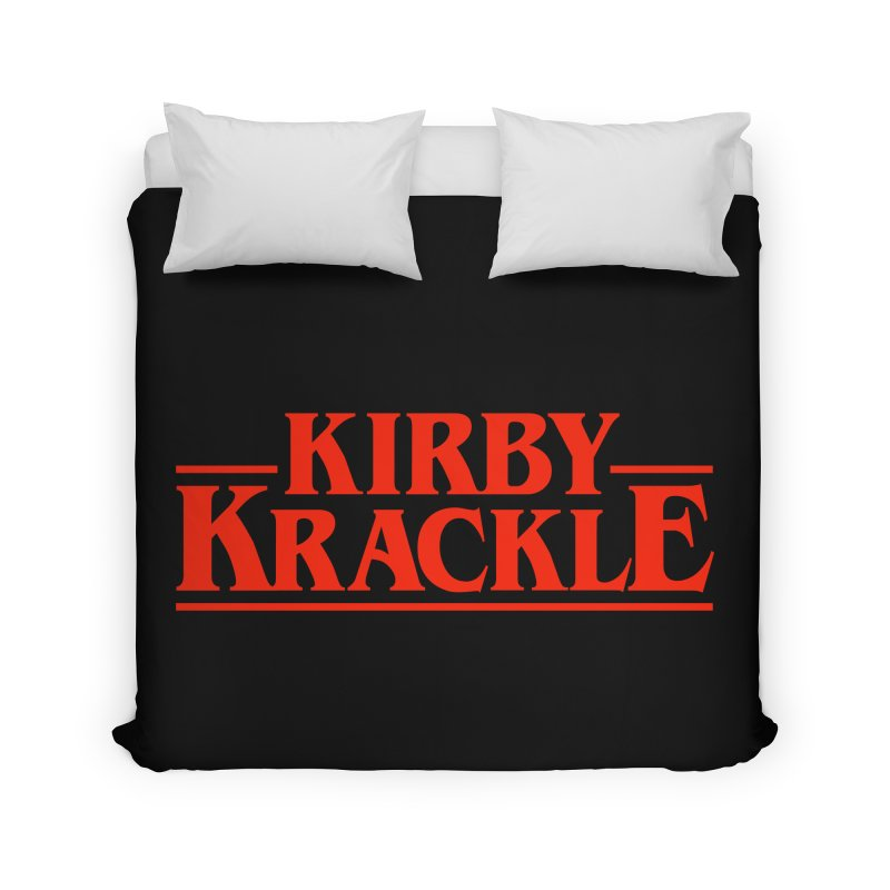 Kirby Krackle - Stranger Logo (Solid) Home Duvet by Kirby Krackle's Artist Shop