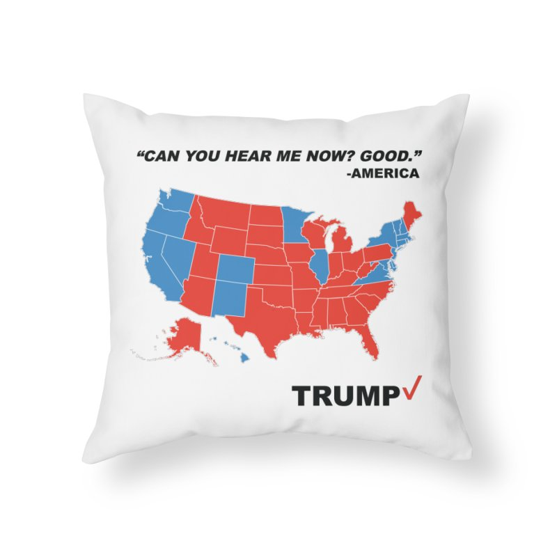 Mr President. Home Throw Pillow by kirbymack's Artist Shop