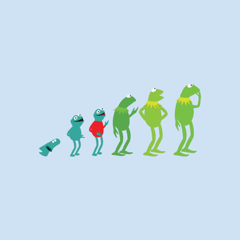 Evolution of Kermit by Kirby Mack's Artist Shop