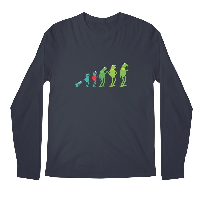 Evolution of Kermit Men's Regular Longsleeve T-Shirt by kirbymack's Artist Shop