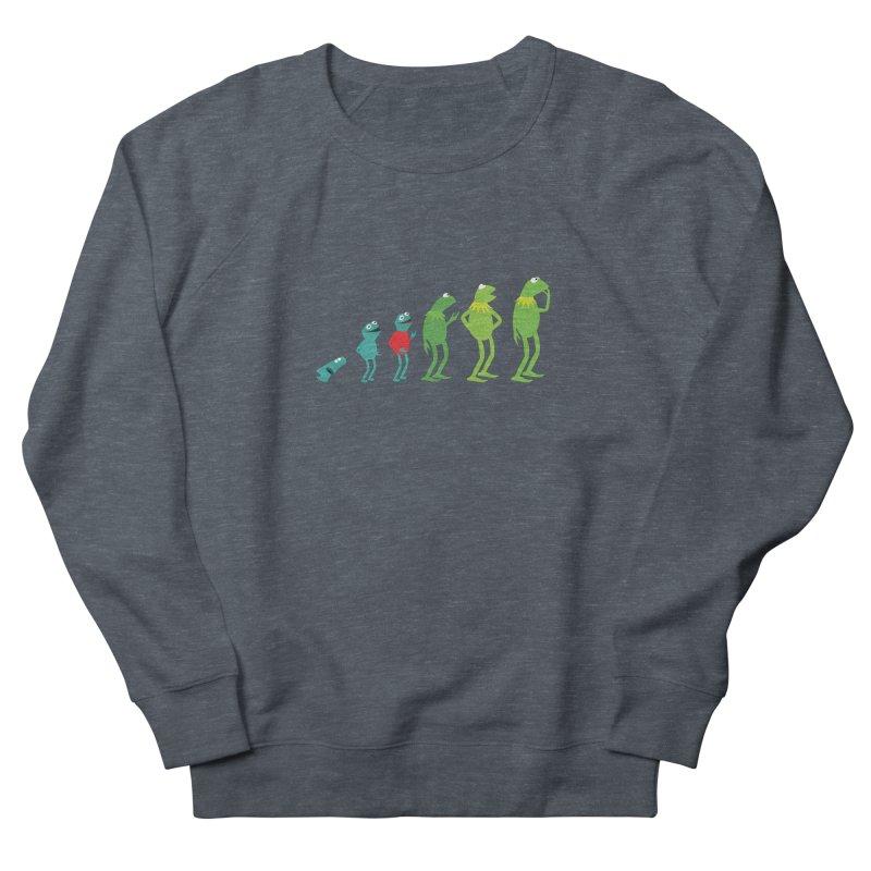 Evolution of Kermit Women's French Terry Sweatshirt by kirbymack's Artist Shop