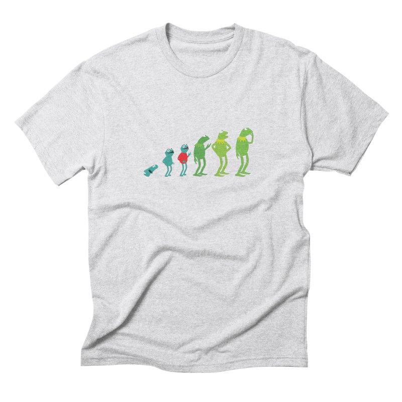 Evolution of Kermit Men's Triblend T-Shirt by kirbymack's Artist Shop