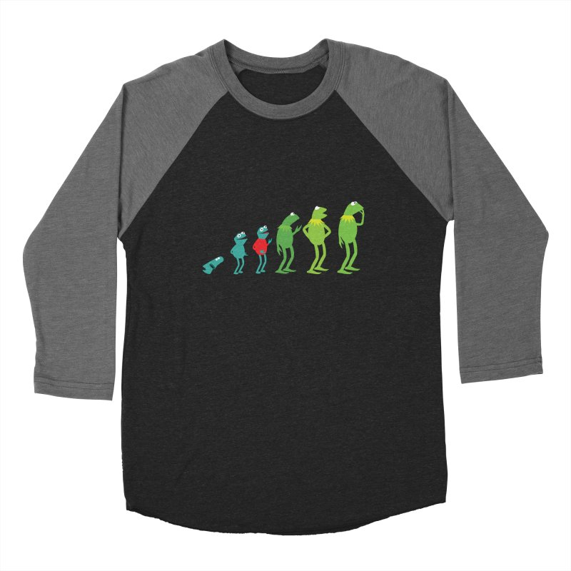 Evolution of Kermit Women's Baseball Triblend T-Shirt by kirbymack's Artist Shop